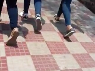 Indian Unspecific Acquisitive Jeans Rear end