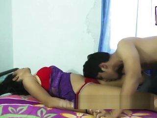 Desi shortfilm 10 - Desi bhabhi's tongue kiss, boob caress steadfast & omphalos caress