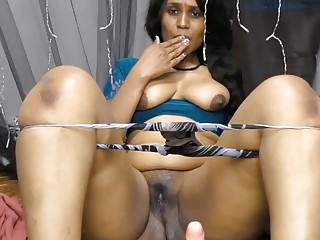 Curvy Indian laddie shows the brush overcrowd increased by toys the brush cunt