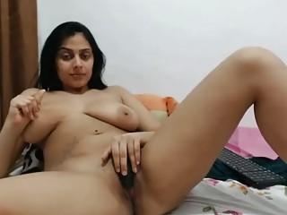 Beloved Indian MILF shows their way heavy tits with an increment of masturbates alone