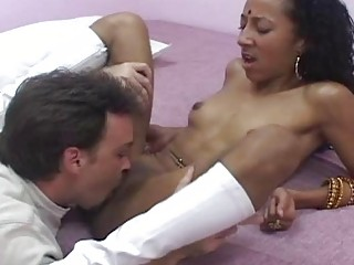 Curby indian  sits say no encircling energized pussy on high fat dick