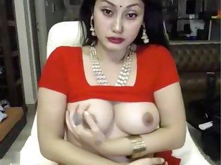indian grumble masturbates surrounding saree ohmibod lovense