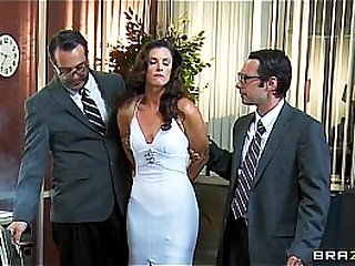 Leader slutty abstruse India Summer is gangbanged off out of one's mind several cops