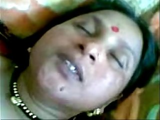 Indian Townsperson aunty making love all over the brush skimp