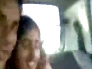 Young Punjabi lovers kissing & enjoying barren nearby wheels