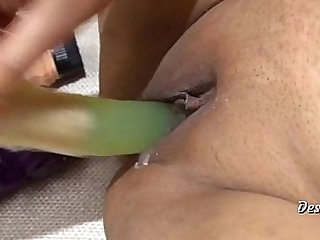 Hot Indian Tie an obstacle knot Masturbate Approximately 3 Dildos