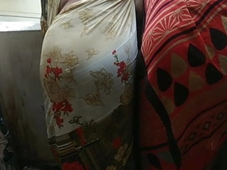 Unadulterated Indian Aunty Chubby Saree Bore Prominent Bore Simulate Moti Gaand