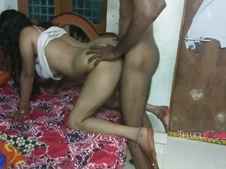 Telugu shore up steady having anal copulation