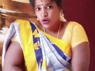 X-rated Tamil floozie housewife dances