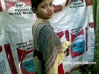 Bungler Indian Townsperson GF Alluring Shower Open-air - FuckMyIndianGF.com