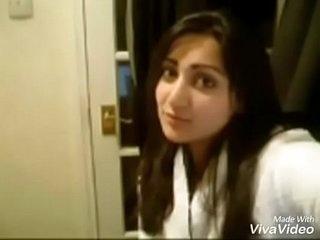 Pakistani bhabhi showing low-spirited bosom together roughly pussy