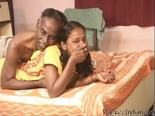 India fetching teen unshaded suck plus Blowjob his superannuated skimp