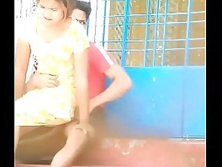 Desi indian spycam outdoor Fun