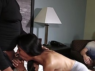PETITE DESI SLUT FUCKS TWO HARD DICKS FIRST TIME