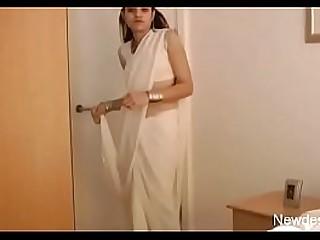 jasmine mathur indian super model in white sari