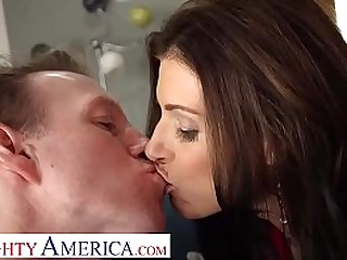 Naughty America - India Summer rides a hard cock and she's loving every second of it