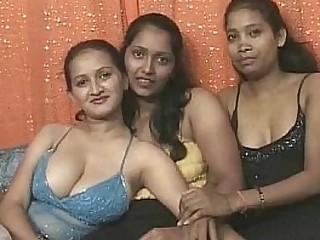 Three indian lesbians having fun