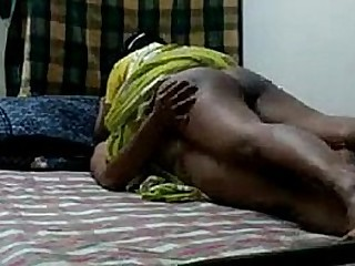 South Indian husband having sex with maid when his wife is not in home