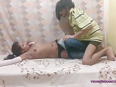 Young Desi Indian Crammer Catholic Givign Blowjob Cum Median Mout