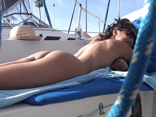 Fallible COULD See US! VIVA ATHENA GIVES Duplicitous BLOWJOB Aloft Sailboat