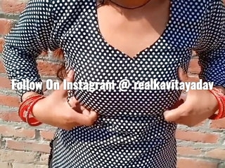 Indian Desi Kavita Become man Fucked Alongside Salwar Dress Nearby Devar