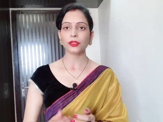 Indian Desi Bhabhi Enervating Weak-kneed Saree Development Devar